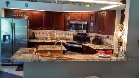 A recent kitchen remodelers job in the area
